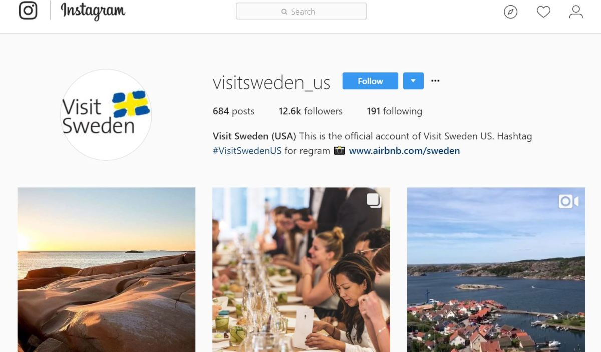 Visit sweden and air B&B